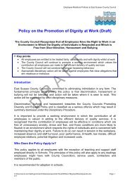 Policy on the promotion of dignity at work - East Sussex County ...