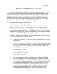 Appendix 2A - Policies Concerning Adjunct Faculty - University of ...