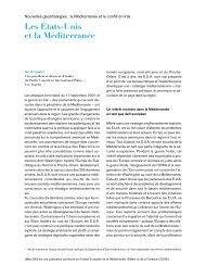 Les Etats-Unis et la Méditerranée - IEMed