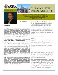 September 2011 Newsletter - SMTA