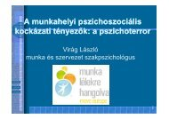 A munkahelyi pszichoszociális kockázati tényezők: a pszichoterror ...