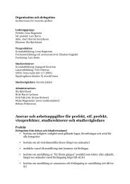 Ansvar och arbetsuppgifter för prefekt, stf. prefekt, viceprefekter ...