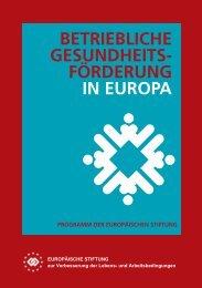förderung in europa - Eurofound - Europa