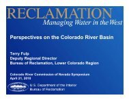 Terry Fulp - Colorado River Commission of Nevada