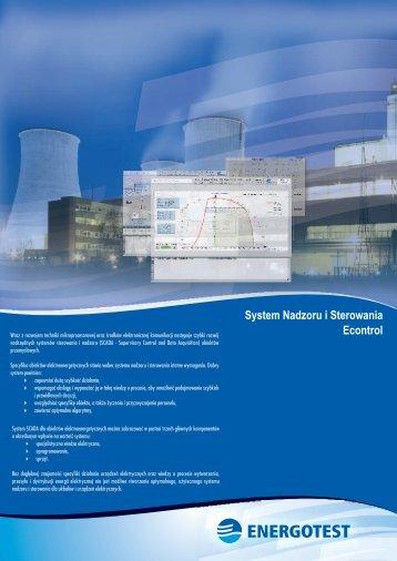 System Nadzoru i Sterowania Econtrol - Energotest