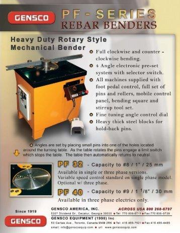 Download PF Brochure - Gensco Equipment