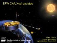 2007-10-caa-xcal-imp.. - Space.irfu.se - Uppsala
