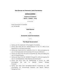 Sub-Decree Economic Land Concessions - Open Development ...