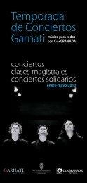 Temporada de Conciertos Garnati. Música para todos con