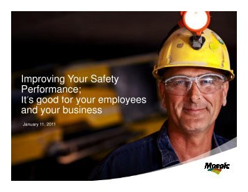 Improving Your Safety Performance; It's good for your employees ...