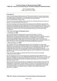 Technische Regeln für Betriebssicherheit (TRBS)