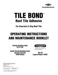 tiLE Bond - Best Materials