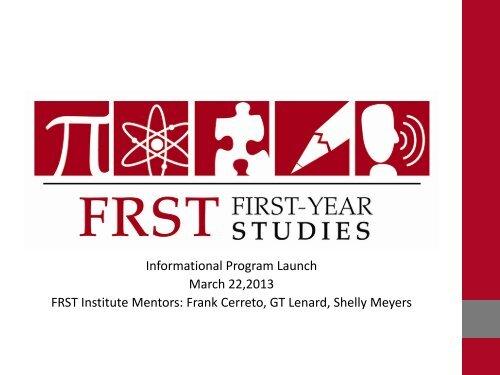 Informational Program Launch March 22,2013 ... - Stockton College