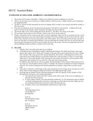 HCCC Auction Rules - Hill Country Cichlid Club