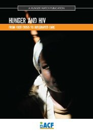 HUNGER and HIV: From Food Crisis to Integrated Care - SARPN