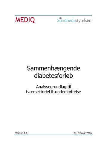 Sammenhængende diabetesforløb - Sundhedsstyrelsen