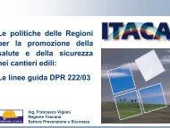 Le politiche delle Regioni per la promozione della salute e della ...