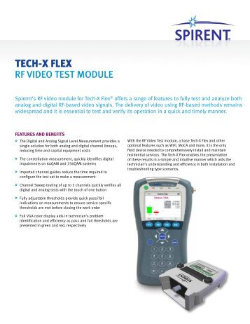 TECH-X FLEX - Spirent Communications