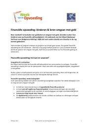 Financiële opvoeding: kinderen & leren omgaan met geld - Nibud