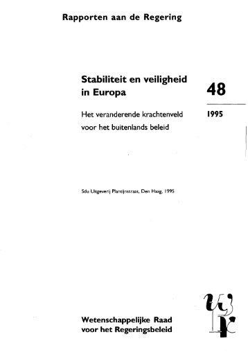 Stabiliteit en veiligheid in Europa - Oapen