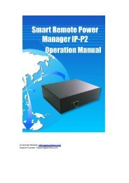 User Manaul For Ambery Professional 2-Port Remote Power Switch