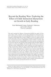Beyond the Reading Wars: Exploring the Effect of Child ... - PBS