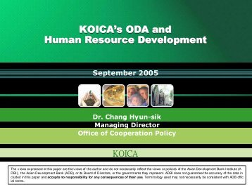 KOICA's ODA and Human Resource Development - Asian ...