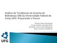 Análise de Tendências do Sistema de Biblioteca/SIBI da ...