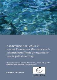 Aanbeveling Rec (2003) 24 van het Comité van Ministers aan de ...