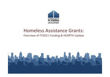 CPD Grantee Meeting: HEARTH Act Presentation - OneCPD
