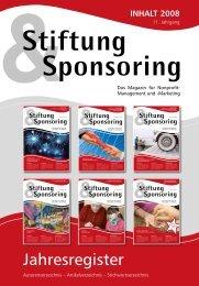 2008 - Stiftung & Sponsoring