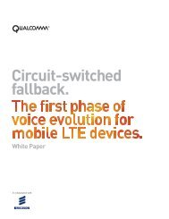 White Paper Circuit-switched fallback. - Ericsson