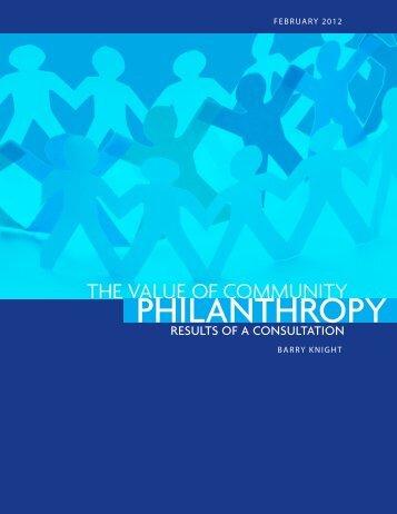 PHILANTHROPY - Community Foundations of Canada