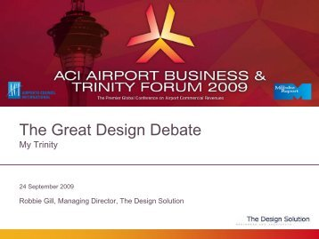 Robbie Gill - The Design Solution - Airports Council International
