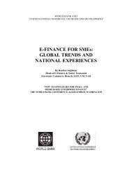 E-FINANCE FOR SMEs: GLOBAL TRENDS AND ... - World Bank
