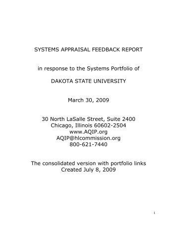 DSU- System- Appraisal- 2009- with- links - Dakota State University