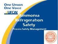 Ammonia Refrigeration Safety - IUF