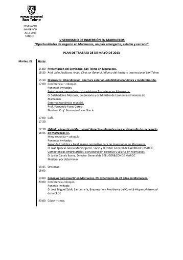 Descargar planning de las jornadas. - Instituto Internacional San ...