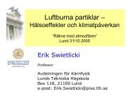 Luftburna partiklar - hälsoeffekter och ... - Lunds universitet