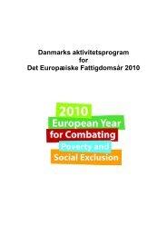 Danmarks aktivitetsprogram for Det Europæiske ... - Europa