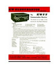 KW77 Communications Receiver - The Listeners Guide