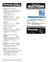 Lot Listing - Maynards Industries