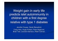 Weight gain in early life predicts islet autoimmunity in children with a ...