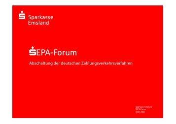 SEPA-Lastschriften - Sparkasse Emsland