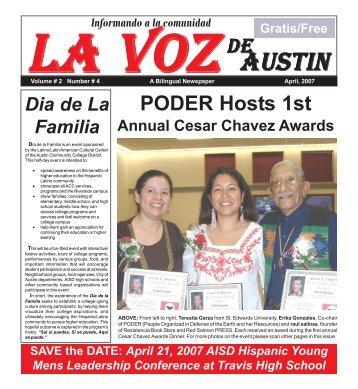 La Voz de Austin April, 2007.pmd - La Voz Newspapers