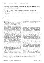 Universal cervical-length screening to prevent preterm birth