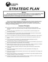 STRATEGIC PLAN - the St. Louis Council of Construction Consumers