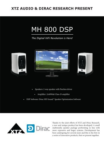 MH 800 DSP Press Release - Xtz