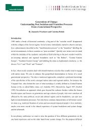 Generations of Change: Understanding Post Socialism and ...