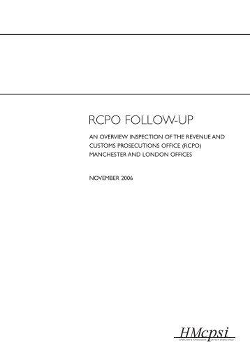 RCPO FOLLOW-UP - HMCPSI